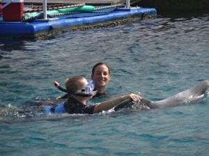 Coen met snorkel