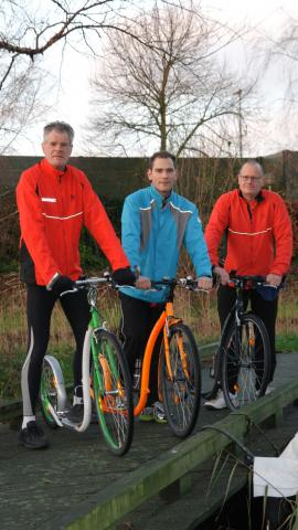 vlnr: Aad de Groot, Wesley van Holsteijn en Lex Boers