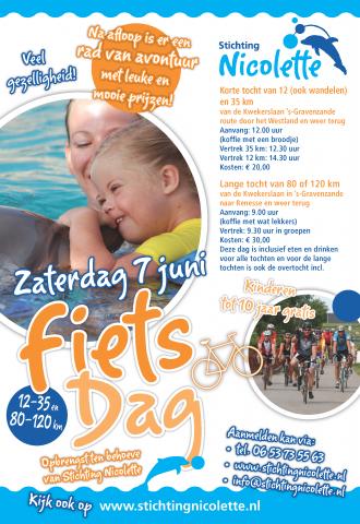 Nicolette Poster Fietsdag 2014