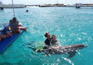zwemmen met Bonny